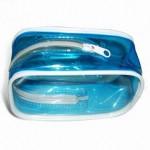 Cosmetic Bag with 8 Gauge Clear Vinyl and #3 Heat Seal Zipper